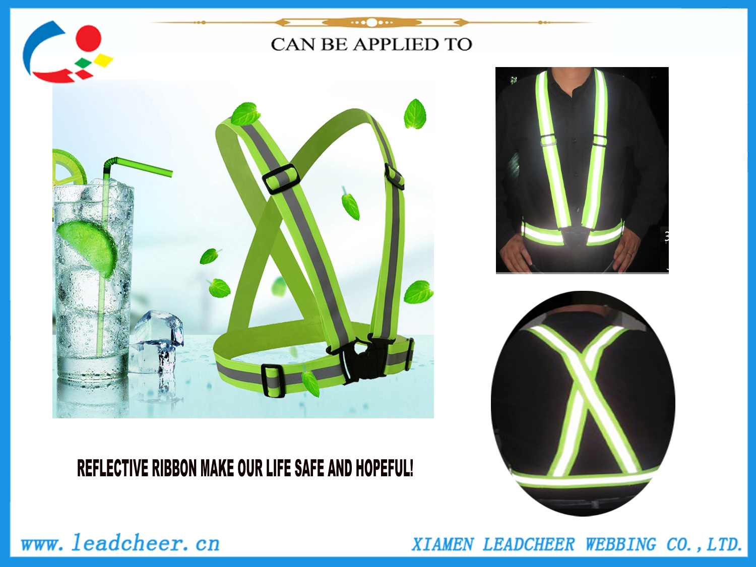Fluorescent Yellow Reflective Webbing