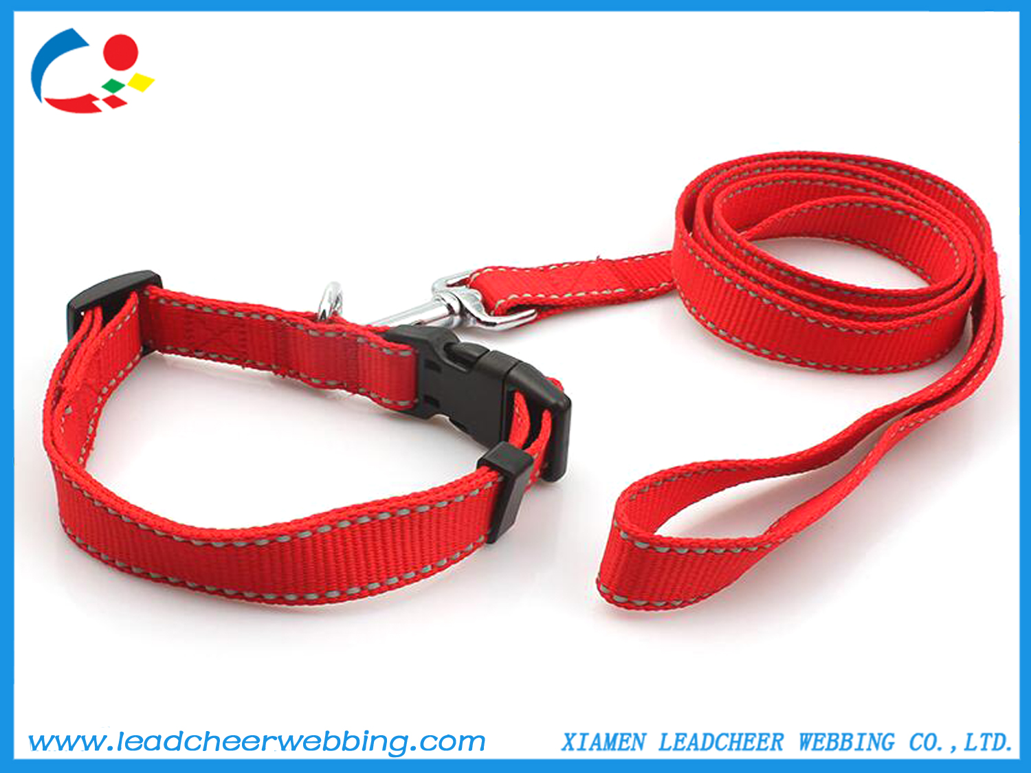 reflective nylon straps for pet leashes