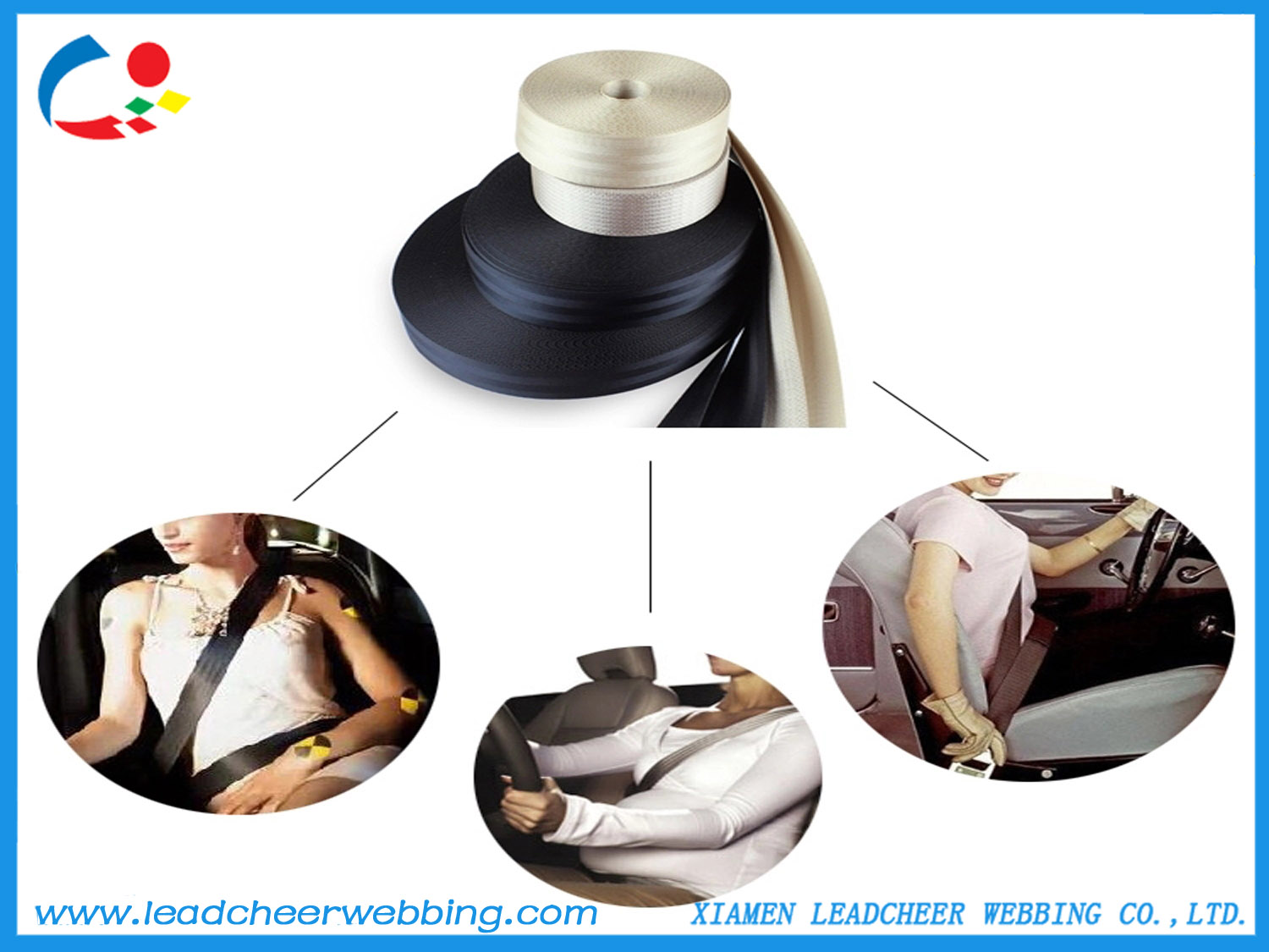 Factory Price Wholesale Heavy Duty Car Safety Belts Webbing